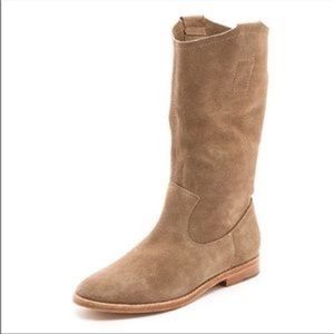 Joie ogdensuede tan mid calf boots
